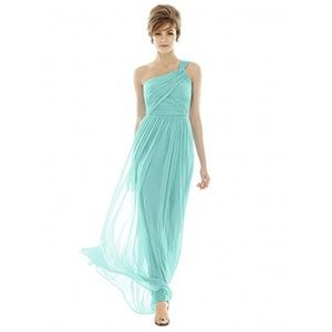 Alfred Sung Coastal Chiffon Dress Prom Bride